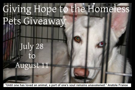 Giving Hope to Homeless Pets Giveaway