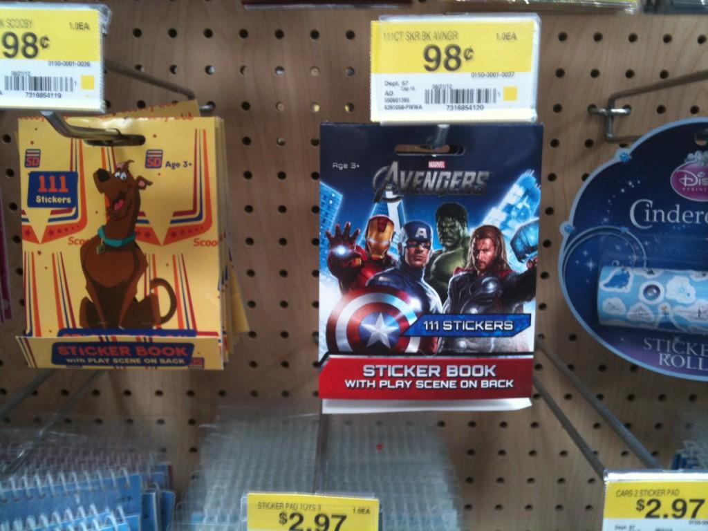 Marvel Avenger Sticker Packages