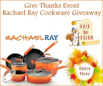 Give Thanks Rachael Ray Cookware Giveaway Event!