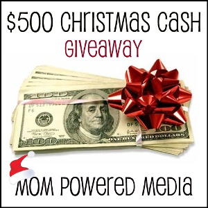 $500 Christmas Cash Giveaway – Ends 12/5