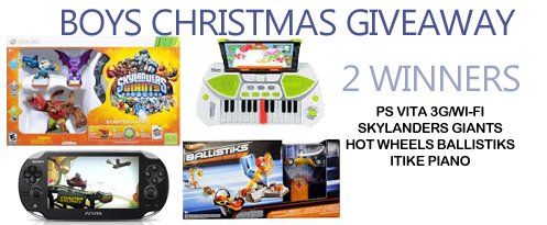 Boys Christmas Giveaway – Ends 12/10