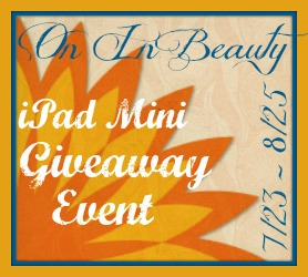 Search and Buy On In Beauty iPad Mini Giveaway Event – Ends 8/25
