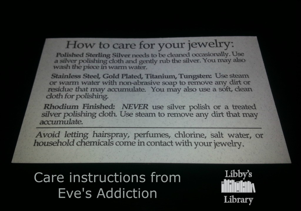 Eve's Addiction Care Instructions