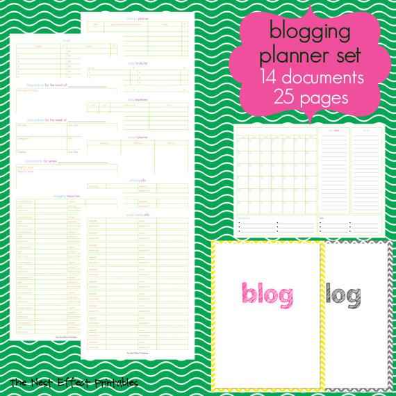 Blog Planner SEt