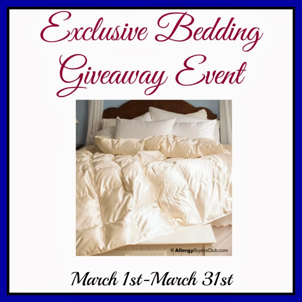 Exclusive Bedding Giveaway Event