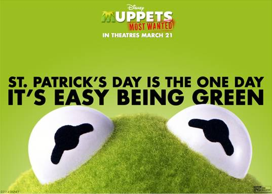 Our Favorite Frog for St. Paddy's Day – Muppets Most Wanted