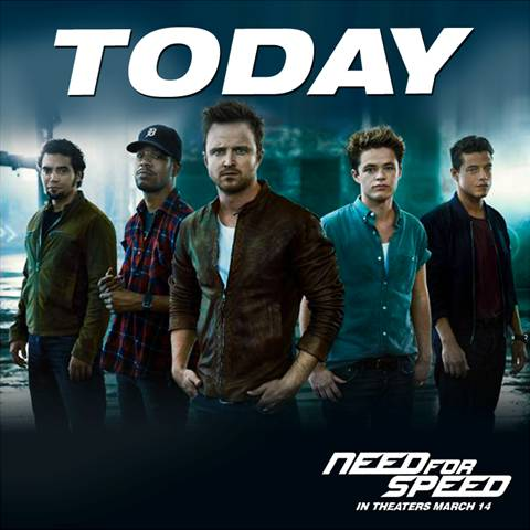 NEED FOR SPEED, is finally playing in theatres everywhere!