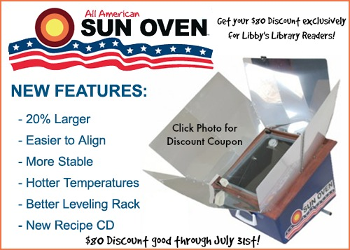 Get Your $80 Discount on an All American Sun Oven!