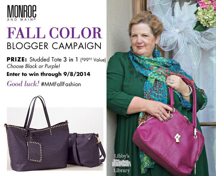 Sporting Fall Color of Monroe and Main…Review and Giveaway
