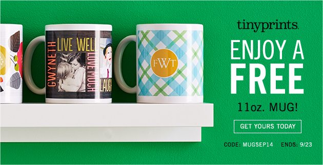 Get a FREE MUG from TinyPrints – 3 Days Only