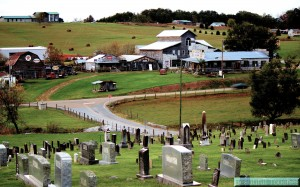 "Fox Cemetery, Sevier County, Tennessee and adjacent ""ghost"" town."