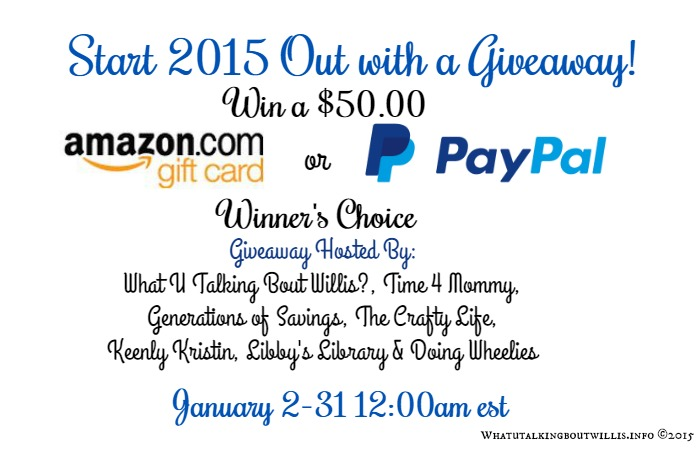 Amazon GC or Paypal Cash Giveaway