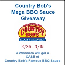 Country Bob's Mega BBQ Sauce Giveaway