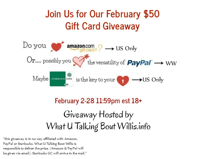 February $50 Gift Card Giveaway