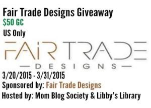 Fair Trade Designs $50 GC Giveaway