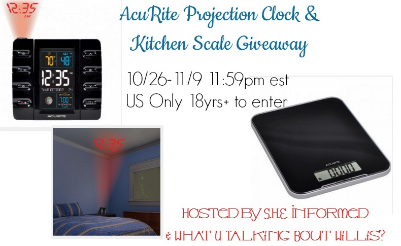 AcuRite Projection Clock  & Kitchen Scale Giveaway