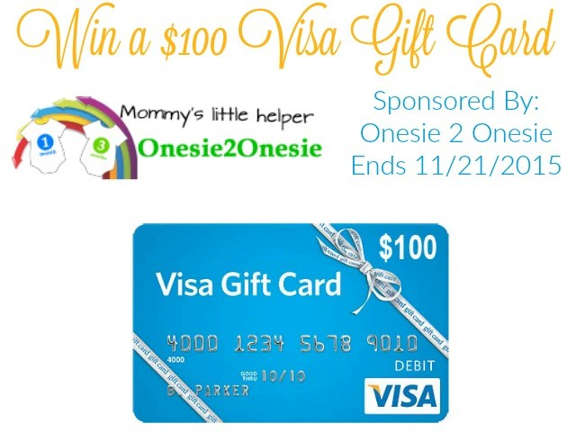 $100 Visa Gift Card Giveaway- Ends November 21