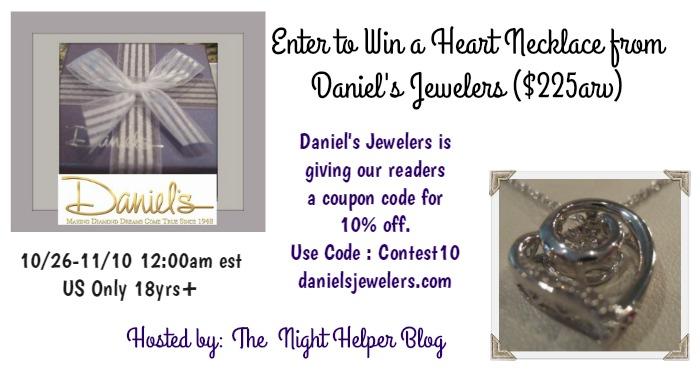 Daniel's Jewelers Giveaway ARV $225