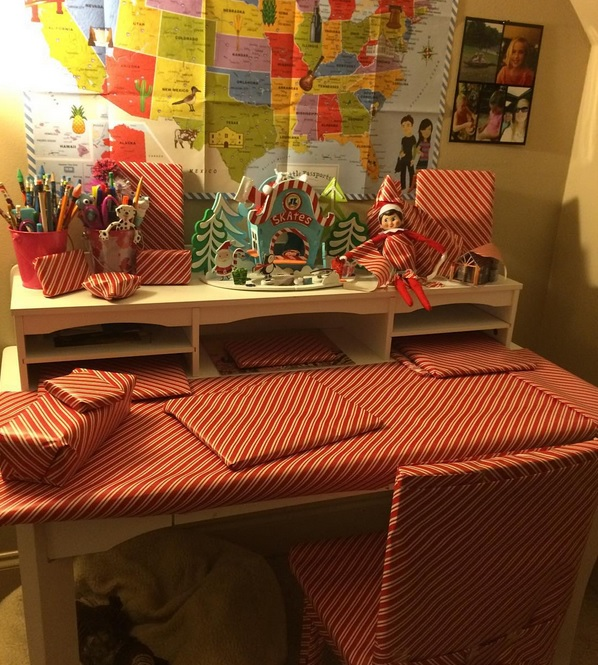 Cookie Our Elf on the Shelf –  Day 1 and 2
