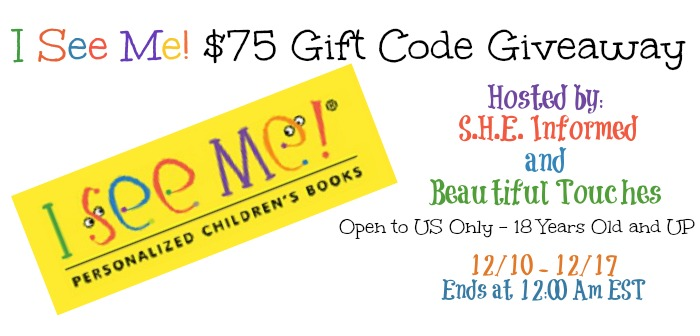 I See Me! Personalized Books $75 Gift Code Giveaway
