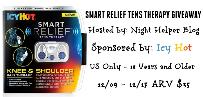 Icy Hot SMART RELIEF TENS THERAPY GIVEAWAY