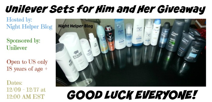 Unilever Sets for Him and Her Giveaway