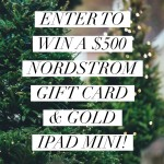 Nordstom $500 GC and Gold iPad Mini Giveaway