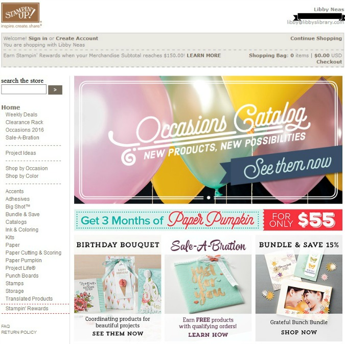 My Stampin' Up Shop