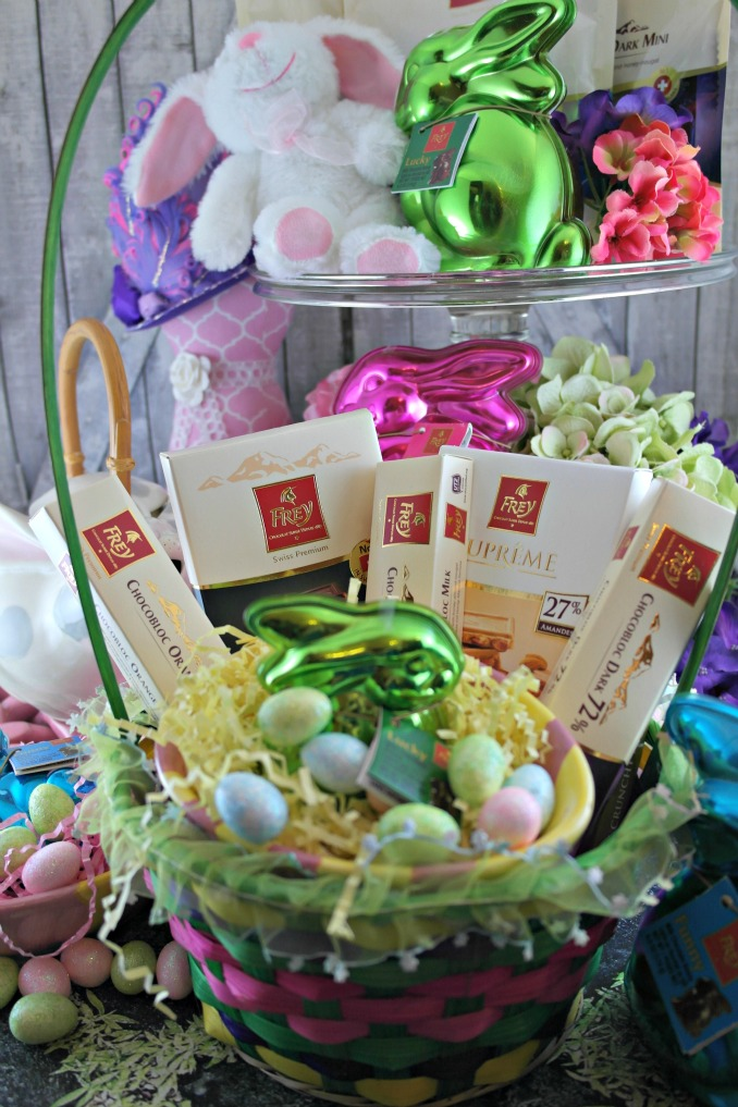 Chcolat Frey Candy in an Easter Basket