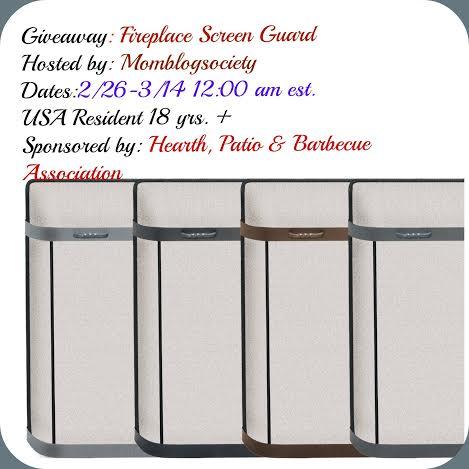 Fireplace Screen Guard Giveaway