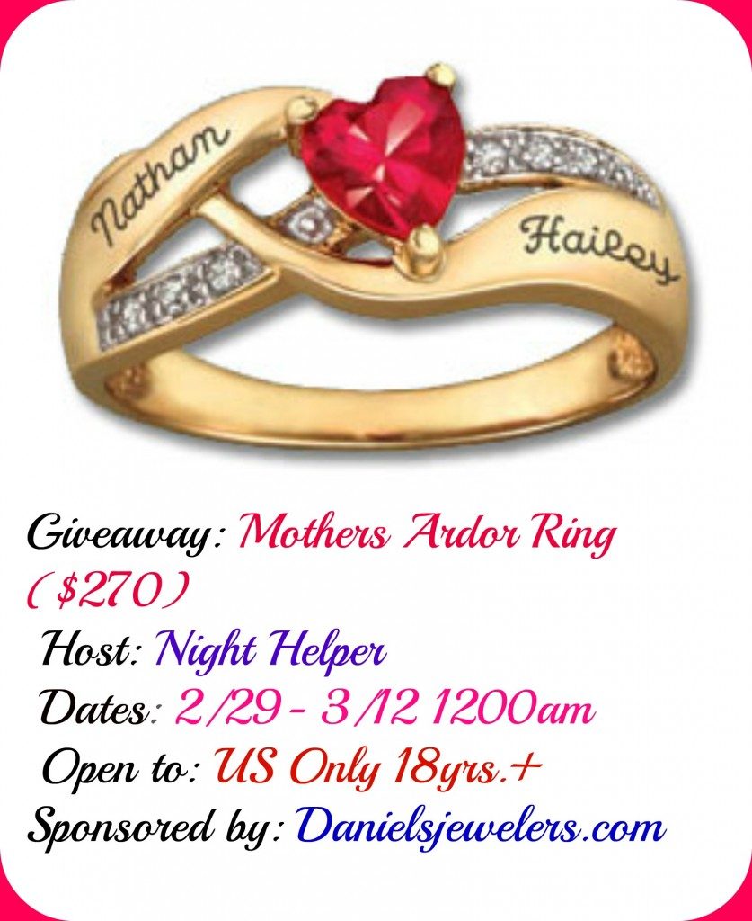 Mothers Ardor Ring Giveaway