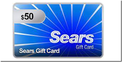 Sears $50 Gift Card Giveaway