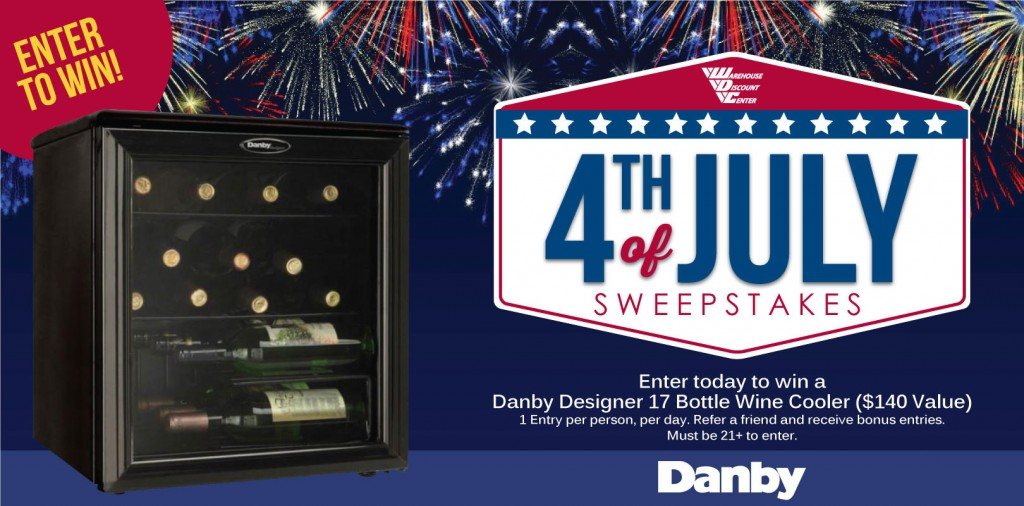 Wine Cooler Sweepstakes Ends July 5