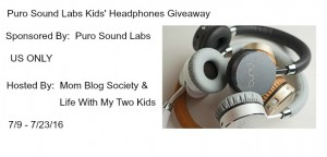 Giveaway:  Puro Sound Labs Kids' Headphones