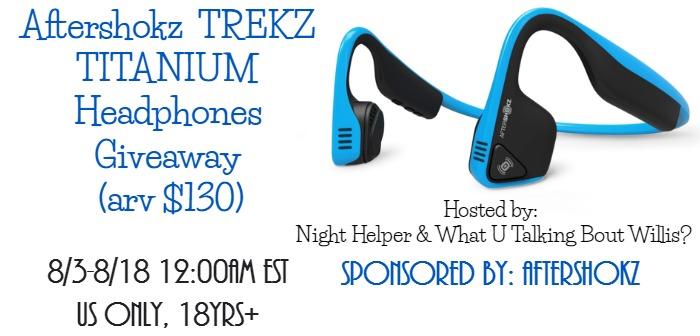 Aftershokz Trekz Titanium Headphones Giveaway