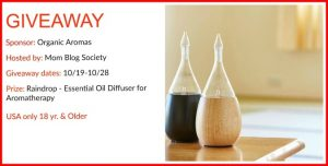 Organic Aromas Oil Diffuser Giveaway