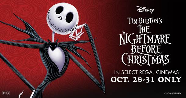 Tim Burton's The Nightmare Before Christmas at Select Regal Cinemas This Weekend