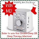 Sound+Sleep Sleep Therapy Machine Giveaway