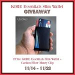 KORE Essentials Slim Wallet  + Money Clip Giveaway