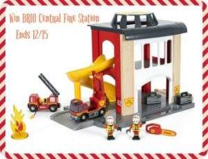 BRIO Fire Station Playset Giveaway