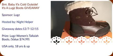 It's A Lugz Women's Tallulah Boots Giveaway