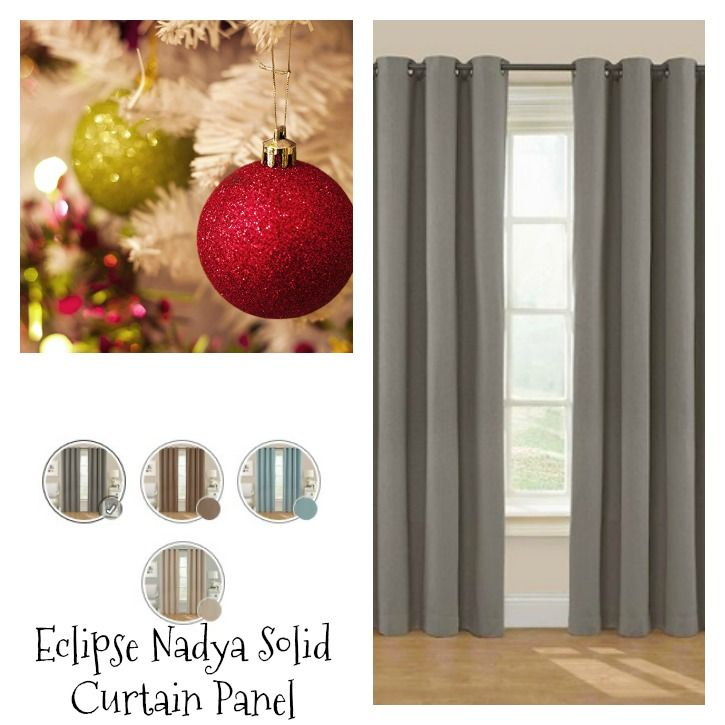 Eclipse Nadya Solid Curtain Panel