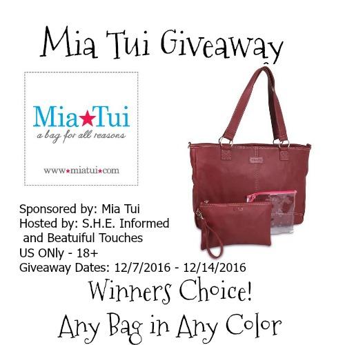 Mia Tui Handbag Giveaway