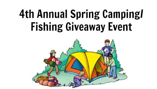 Spring Camping/Fishing Event Giveaway