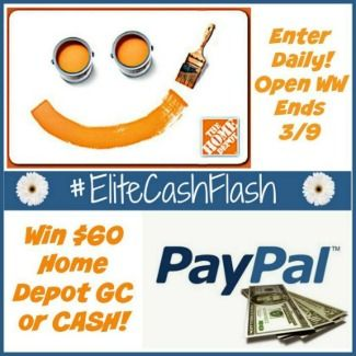 Home Depot Gift Card or Cash Giveaway
