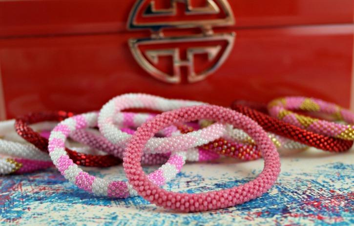 Sashka Co. Roll On Glass Beaded Bracelets