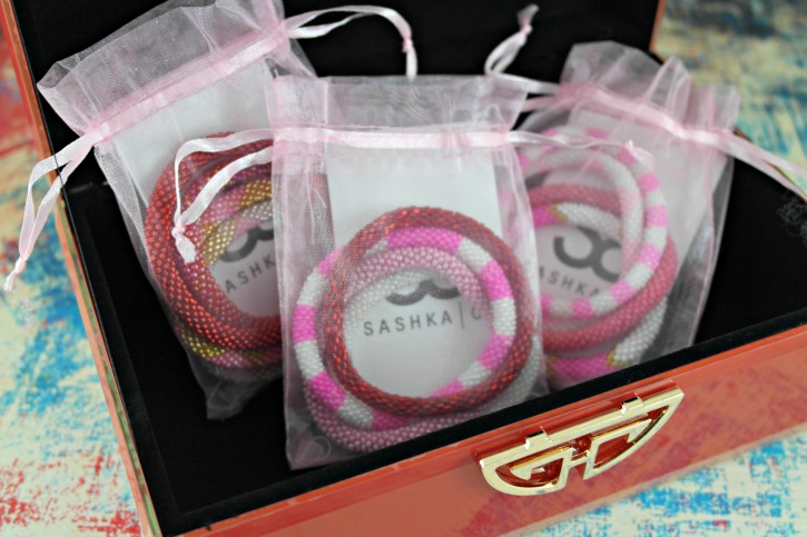 Sashka Co. Roll On Glass Beaded Bracelets