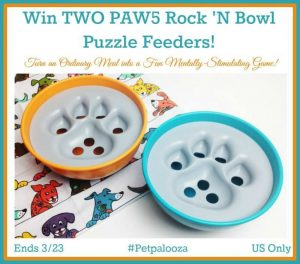 Two Paws Rock 'n Bowl Giveaway