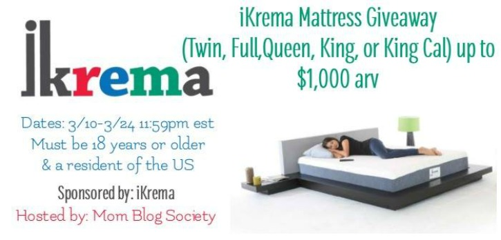 iKrema Mattress Giveaway
