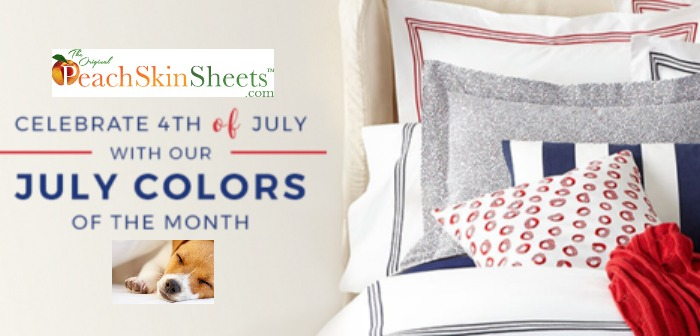 PeachSkinSheets.com Goes Red White & Blue